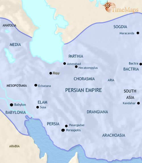 Map of Iran at 500BCE