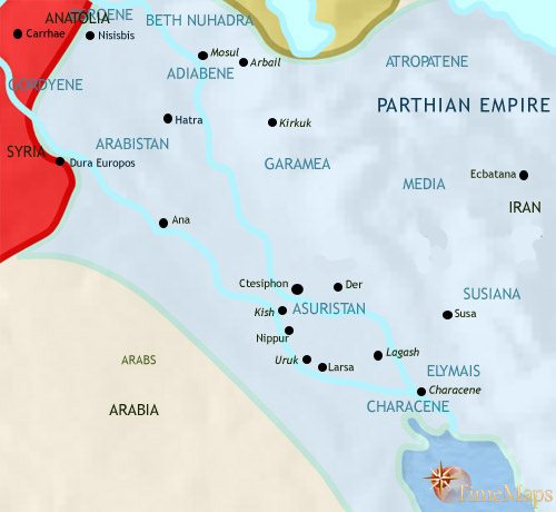 Map of Iraq at 200CE