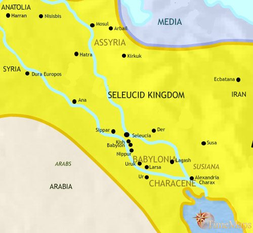 Map of Iraq at 200BCE