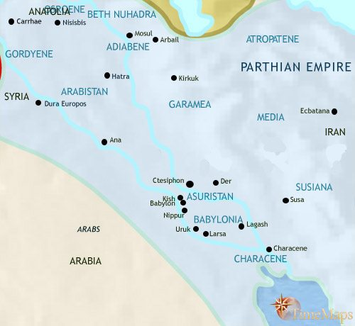 Map of Iraq at 30BCE