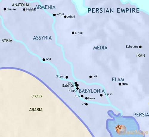 Map of Iraq at 500BCE
