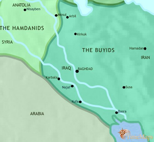 Map of Iraq at 979CE