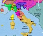 Map of Italy at 1648CE