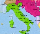 Map of Italy at 1914CE