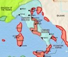 Map of Italy at 750CE