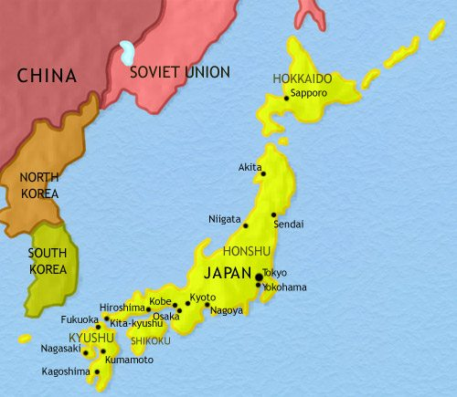 Map of Japan at 1960CE