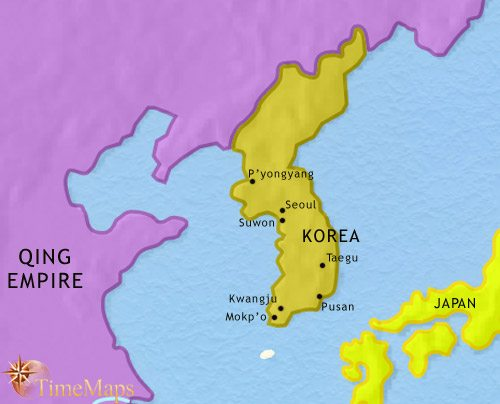 Map of Korea at 1789CE
