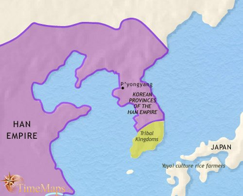 Map of Korea at 30BCE