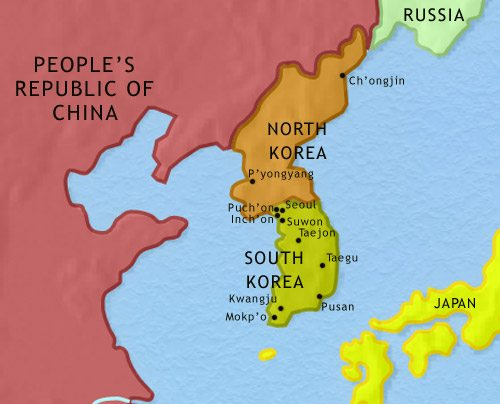 Map of Korea at 2005CE