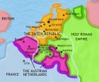 Map of The Low Countries at 1789CE