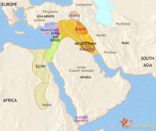 Map of Middle East at 1000BC | TimeMaps