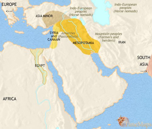 Map of Middle East at 2500BCE