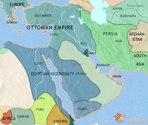 Middle East History 1837 Ce