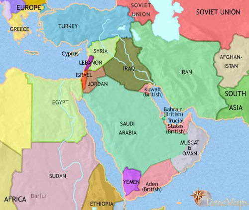 Map of Middle East at 1960AD | TimeMaps