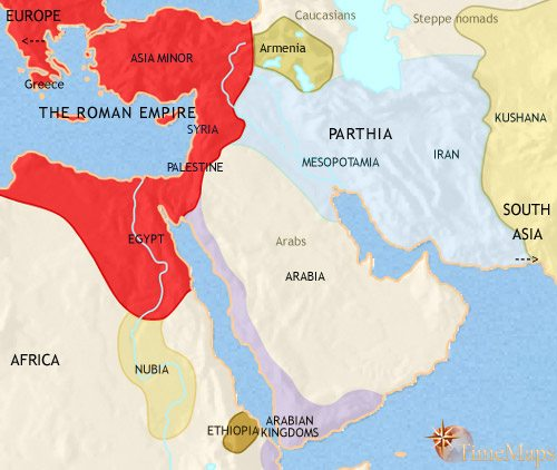 Map of Middle East at 200CE