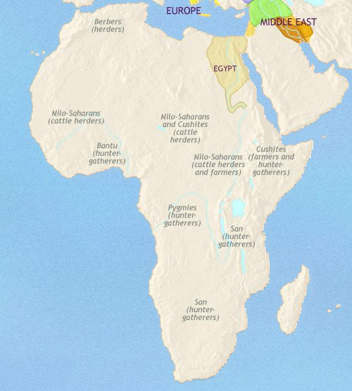 Map of Africa at 1500BCE