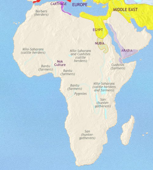 Map of Africa at 200BCE