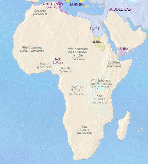 Map of Africa at 500BCE