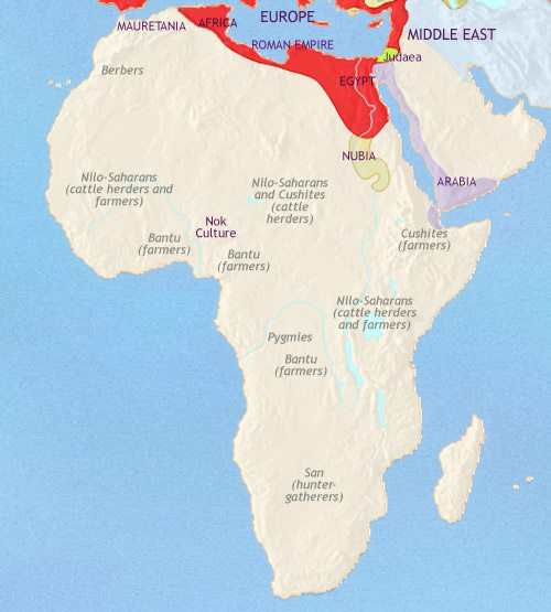 Map of Africa at 200BC | TimeMaps