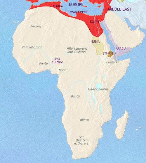 Map of Africa at 200CE