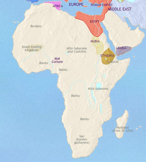 Map of Africa at 500CE