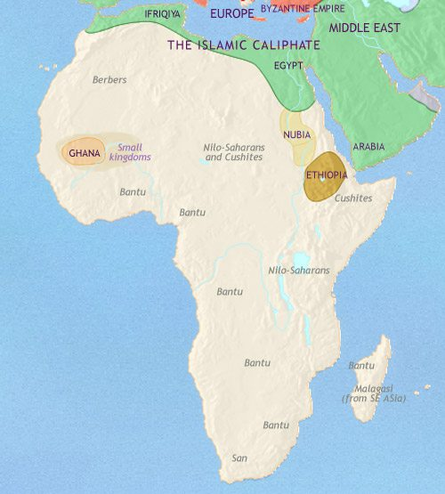 Map of Africa at 750CE
