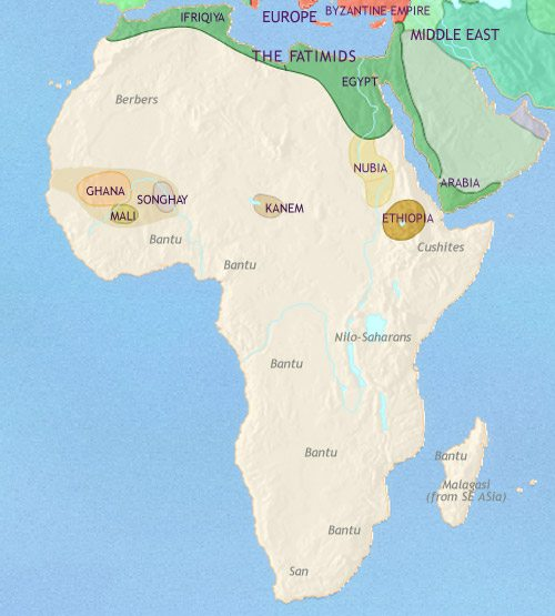 Map of Africa at 979AD TimeMaps