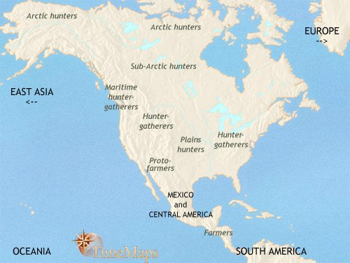Map of North America at 1500BC | TimeMaps Map Of Ameruca on