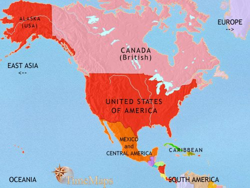 North America History 1914 Ce