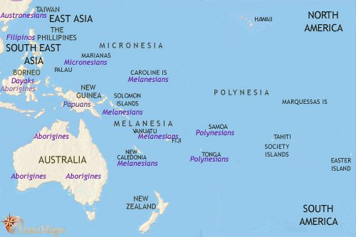 Map of Oceania at 200BCE