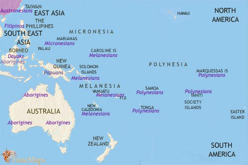 Map of Oceania at 30BC TimeMaps