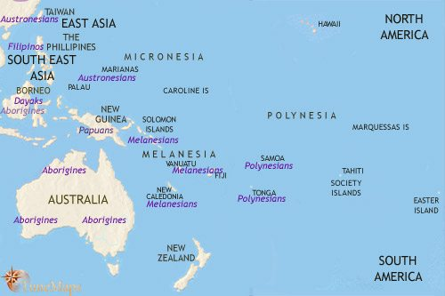 Map of Oceania at 500BCE