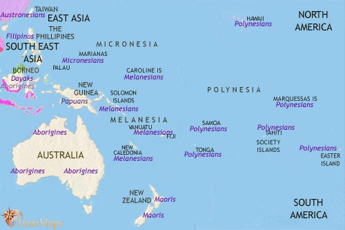Map of Oceania at 1453CE