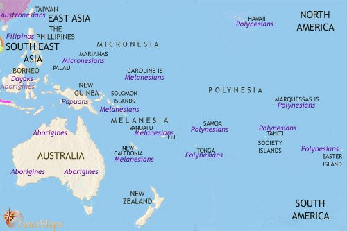 Map of Oceania at 500CE