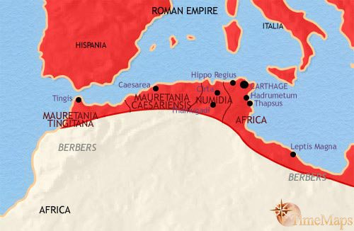 Map of North Africa at 200CE