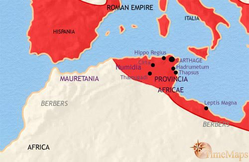 Map of North Africa at 200BC | TimeMaps