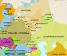 Map of Russia at 1453CE