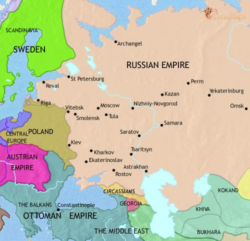 Map of Russia at 1453AD | TimeMaps