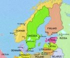 Map of Scandinavia at 2005CE
