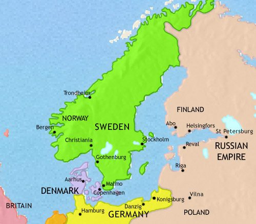 Scandinavia history 1215 ce map of scandinavia at 1871ce gumiabroncs Gallery