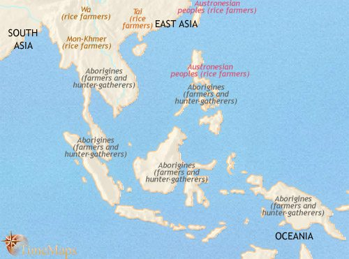 Map of South East Asia at 1500BCE