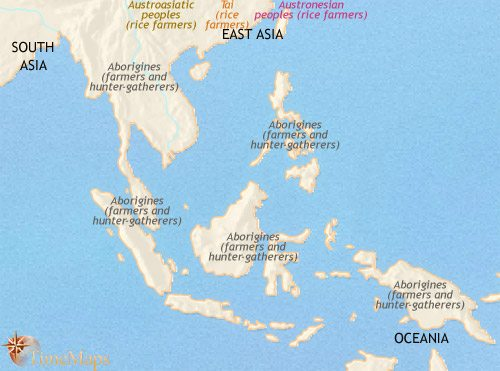 Map of South East Asia at 2500BCE