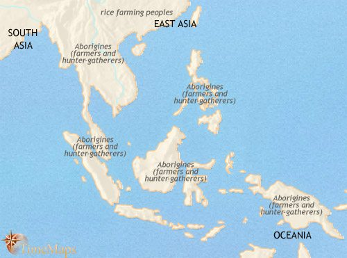Map of South East Asia at 3500BCE