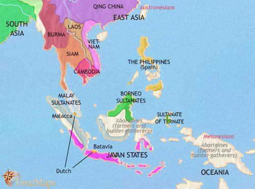 Map of South East Asia at 1648AD | TimeMaps