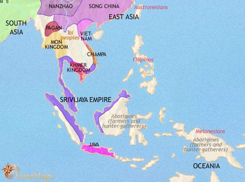 Map of South East Asia at 979CE