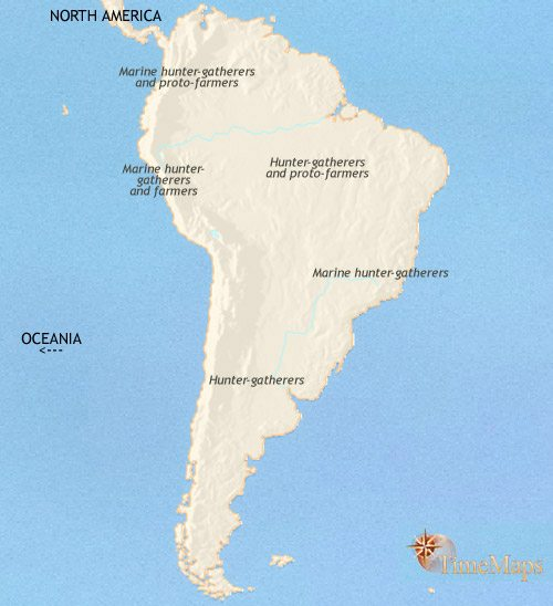 Map of South America at 3500BC | TimeMaps