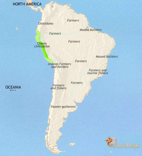 South america history 500 bce map of south america at 500bce gumiabroncs Choice Image