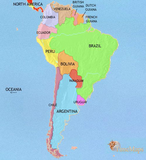 Map of South America at 1914AD | TimeMaps