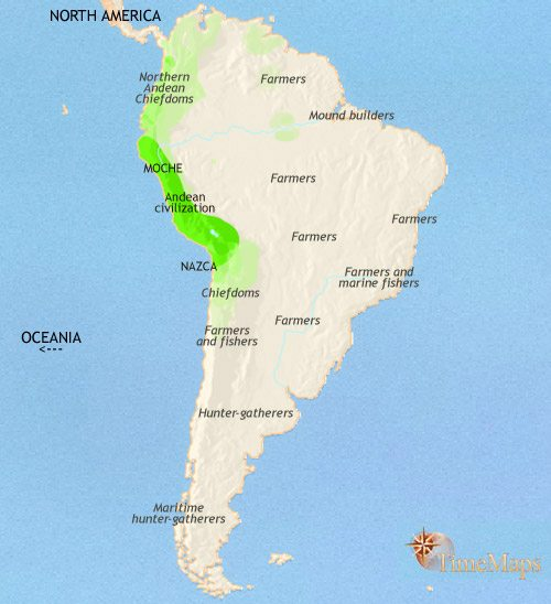Map of South America at 200CE