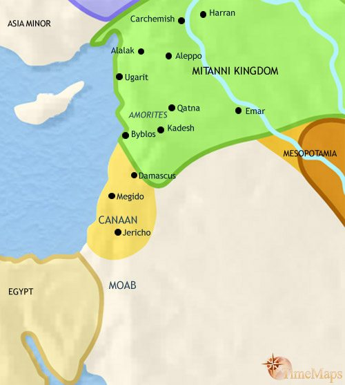 Map of Syria at 1500BCE